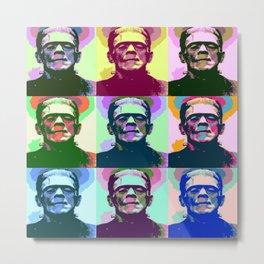 Frankenstein Pop Art Metal Print
