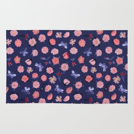 Roses and Butterflies Rug