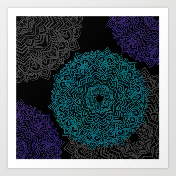 My Spirit Mandhala | Secret Geometry Art Print