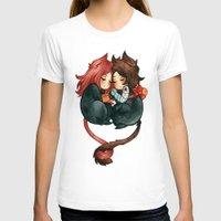 bucky T-shirts featuring bucky & natasha by cynamon