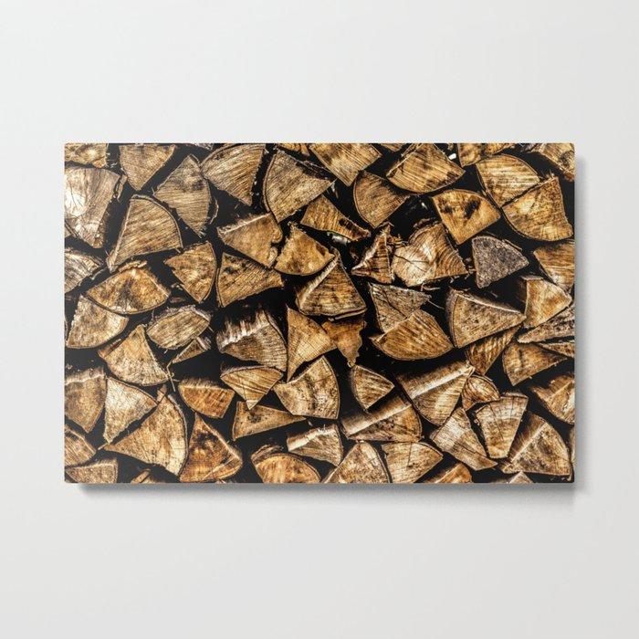 Camp Fire Wood Metal Print