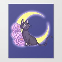 enerjax Canvas Prints featuring Luna by enerjax