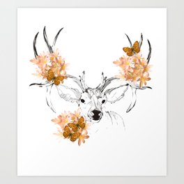 spring cervo Art Print
