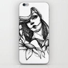Skull Girl iPhone Skin