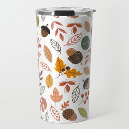 Hello Fall Pattern Travel Mug