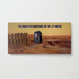 Doctor Who and the Martian Warriors Metal Print