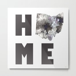"Ohio ""HOME"" Metal Print"