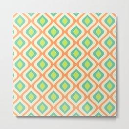 Mid Century Modern Diamond Ogee Pattern 154 Metal Print