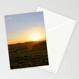 Field sunset Stationery Cards