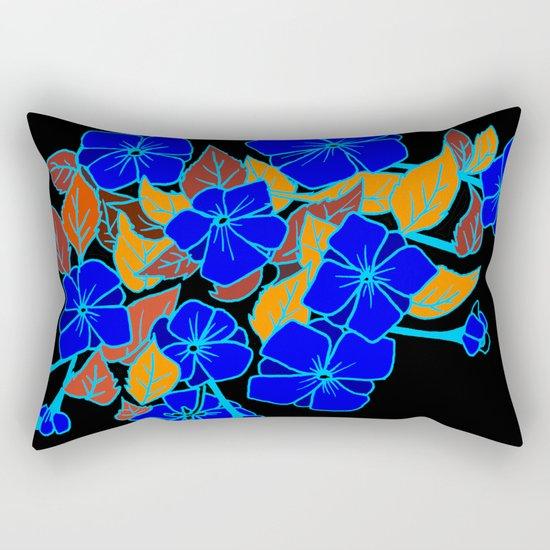 Blue Violets Rectangular Pillow
