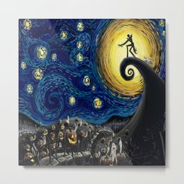 Jack starry night Metal Print