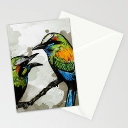 A Pair of Mot Mots Stationery Cards