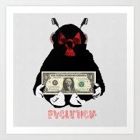 evolution Art Prints featuring Evolution by Marko Köppe