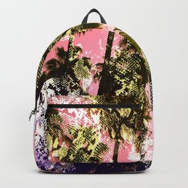 Snake sunset in paradise Backpack