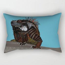 iguana blue Rectangular Pillow