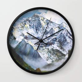 Jungfrau mountain. Swiss Alps Wall Clock