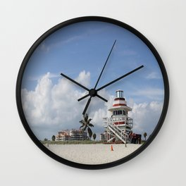 South Beach Miami Lifeguard Station Wall Clock