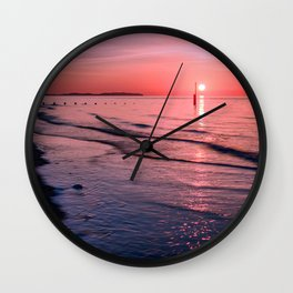 Seascape Sunset Wales Wall Clock