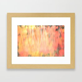Blur of Autumn Framed Art Print