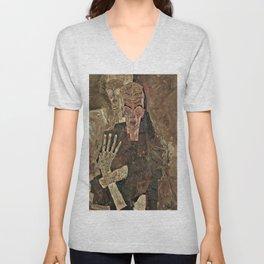 Egon Schiele - Self-Seer II (Death and Man) Unisex V-Neck
