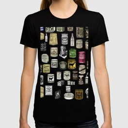 Vintage Victorian food cans T-shirt