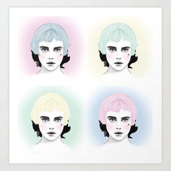 Fashion Illustration - Chanel Pop Art Art Print