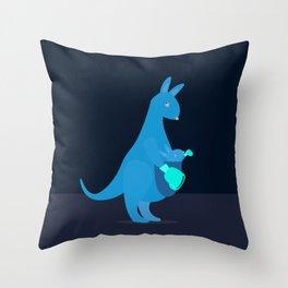 Boxing Kangaroos Throw Pillow