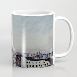 Paris Eiffel Tower Acrylics On Canvas Board Coffee Mug