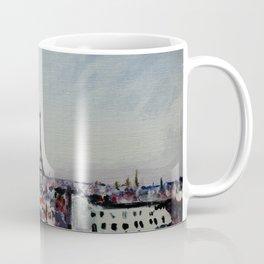 Paris Eiffel Tower Acrylics On Canvas Board Coffee Mug