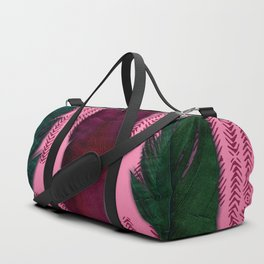 Dark rose and feathers Duffle Bag
