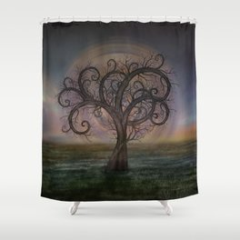 Golden Spiral Tree #3 Shower Curtain