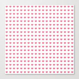 Watercolor Hearts Pattern 1 Canvas Print