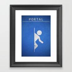 Minimal Portal Blue Framed Art Print
