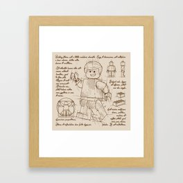 Leg's Plan Framed Art Print
