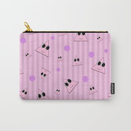 Pink Triangle Pattern Carry-All Pouch