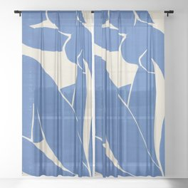 Blue Nude by Henri Matisse  Sheer Curtain