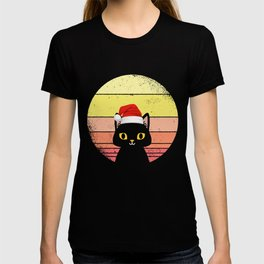 Christmas cat retro and vintage Christmas kitten T-shirt