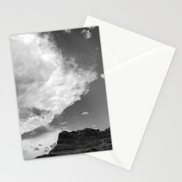 Incoming Storm Black and White Stationery Cards