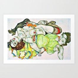 Egon Schiele - Female Lovers - Digital Remastered Edition Art Print