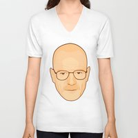 walter white V-neck T-shirts featuring Walter White by sknny