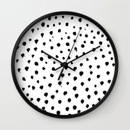 Dalmatian dots black Wall Clock