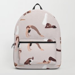 Woman yoga poses international pattern Backpack