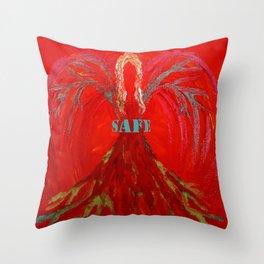 Feel SAFE Angel Throw Pillow