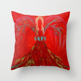 Feel SAFE Angel Throw Pillow