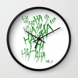 The Joker Laugh Green Wall Clock