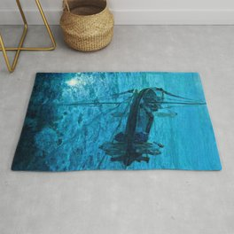 African American Masterpiece 'Disciples See Jesus Walk on Water' by Henry Ossawa Tanner Rug