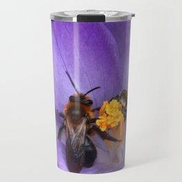 Bees and Crocus Travel Mug