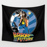 mcfly Wall Tapestries featuring Bark to the Future by Mike Handy Art