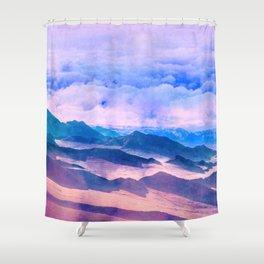 Blue Mountains Land Shower Curtain