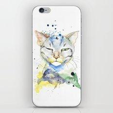 Suspicious Cat iPhone & iPod Skin